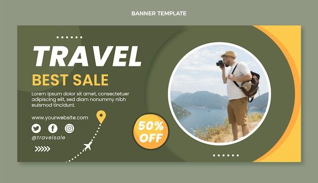 旅行デザインテンプレートバナー