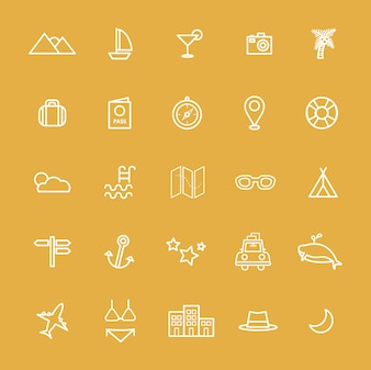 Travel Destination Icon Vectors Illustration Concept