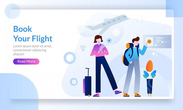 Travel destinations landing page