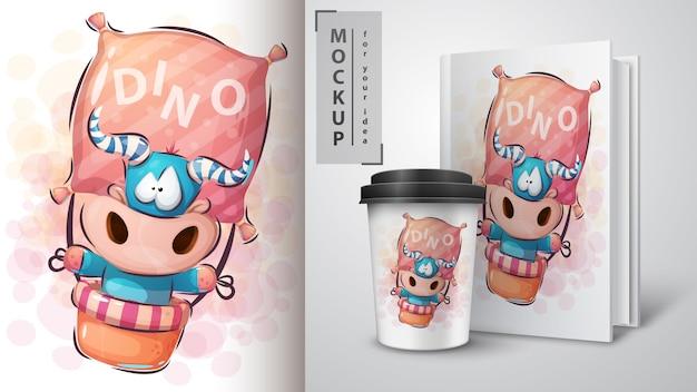 Travel dino monster poster and merchandising