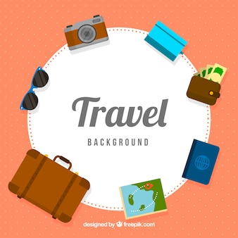 Travel elements background