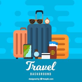 Travel elements background