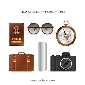 Raccolta di elementi di viaggio