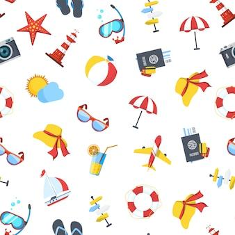 Travel elements pattern or  illustration