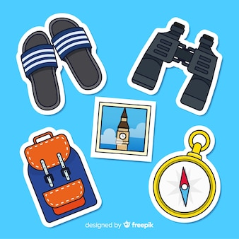 Travel elements sticker collection
