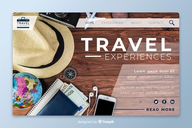 Целевая страница с фотографиями путешествий
