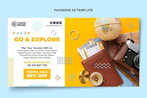 Travel facebook post template