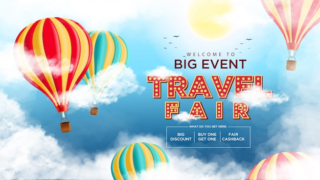 Travel fair background promotion event