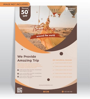 Travel fair poster promotion
