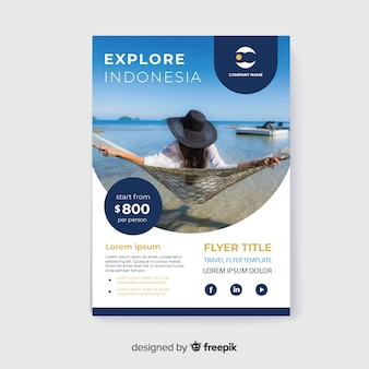 Travel flyer girl with hat enjoying holidays