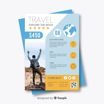 Travel flyer template with special offer