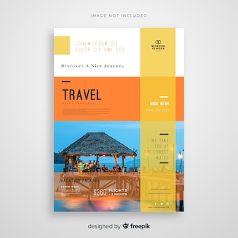 Travel flyer template