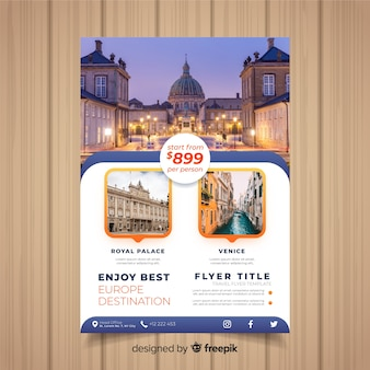 b34b90f6cab5d Travel flyer template