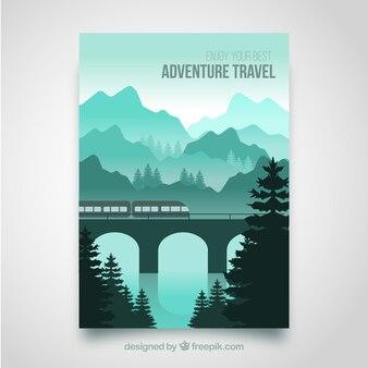 Travel flyer with destination