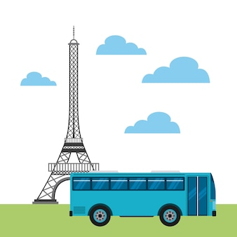 Travel and france design