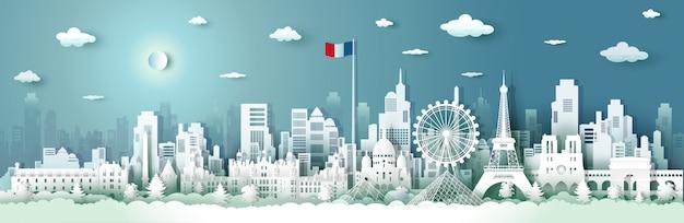 Путешествие французской архитектуры с восходом и заходом солнца.