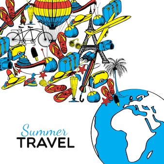 Travel hand drawn illustration