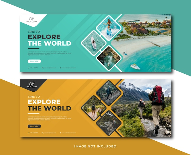 Travel holiday vacation banner template