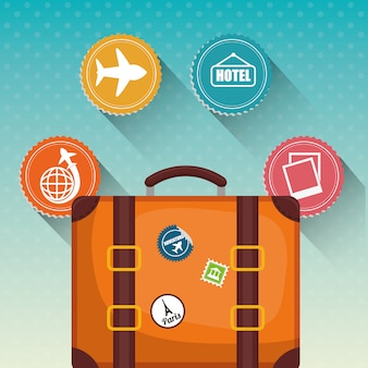 Travel icon, vector illustration