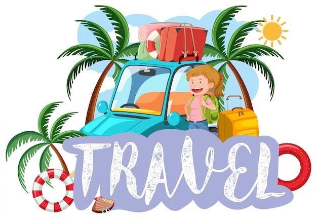 A travel icon on white background