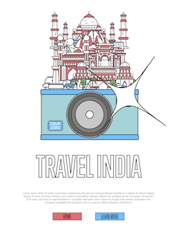 Travel india website with camera