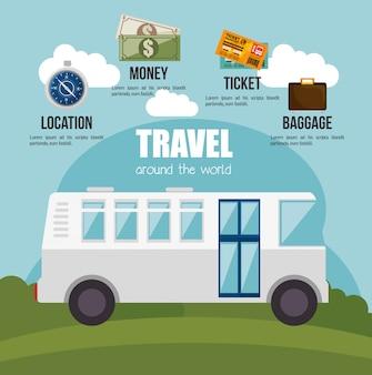 여행 및 인포 그래픽 디자인