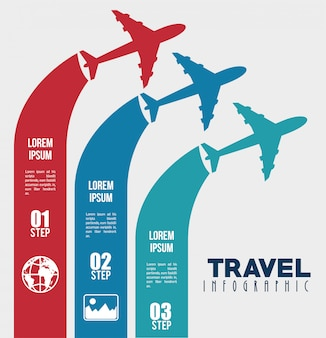 Travel infographic design