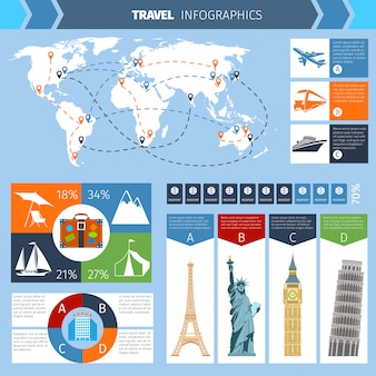 Travel infographic set