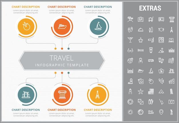 여행 infographic 템플릿, 요소 및 아이콘