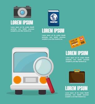 Travel infographics design