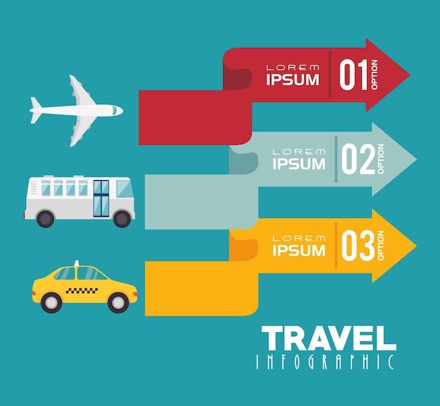 여행 인포 그래픽 디자인