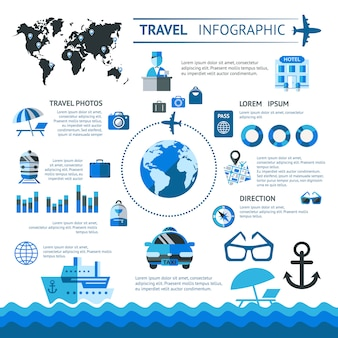 Travel infographics set