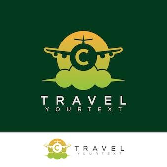 Travel initial letter c logo design