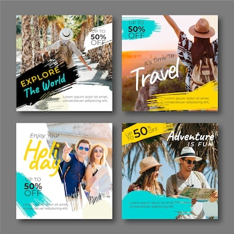 Travel instagram post collection template