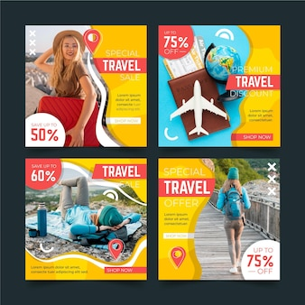 Travel instagram post collection