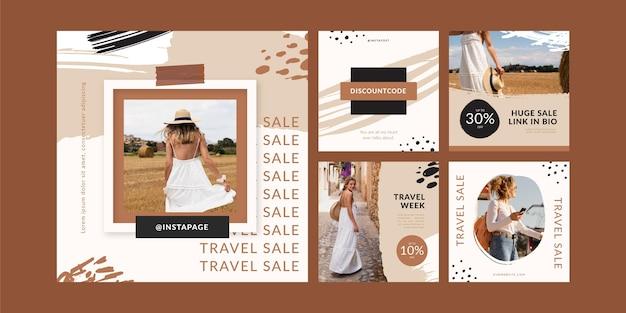 Modello di post instagram di viaggio