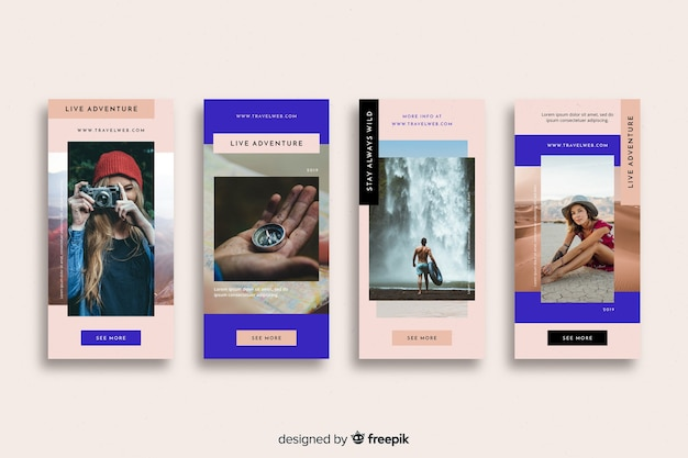 Travel instagram stories collection