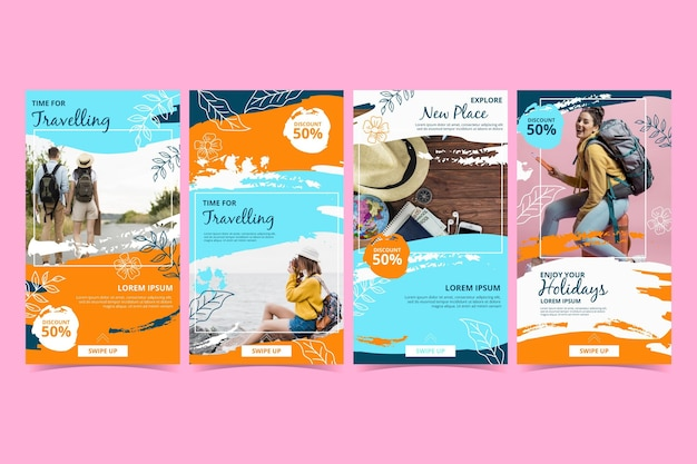 Travel instagram story collection template