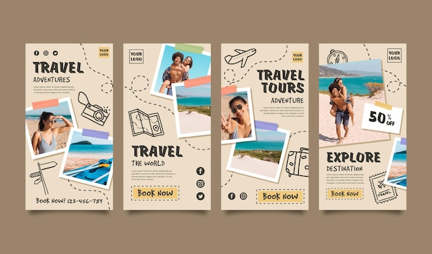 Travel instagram story collection