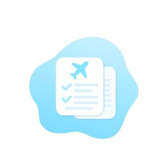 Travel insurance documents illustration