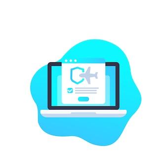 Travel insurance online illustration