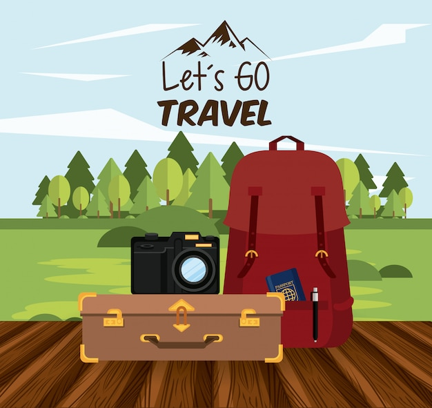 Travel journey and tourism icon