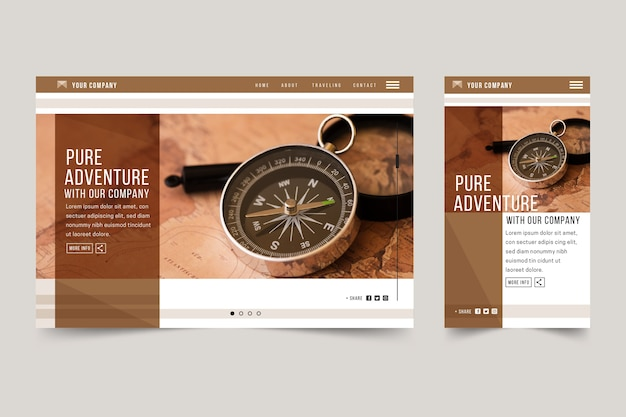 Travel landing page template