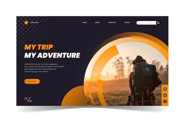 Целевая страница путешествия с фотографией