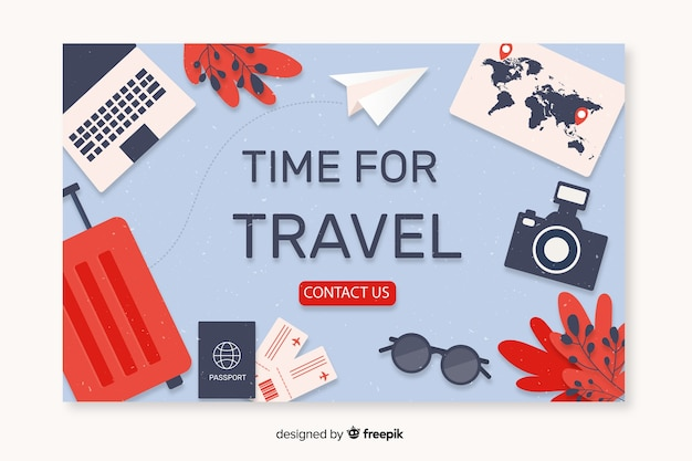 Travel landing page