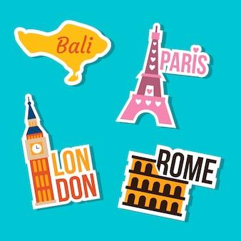 Travel landmark sticker