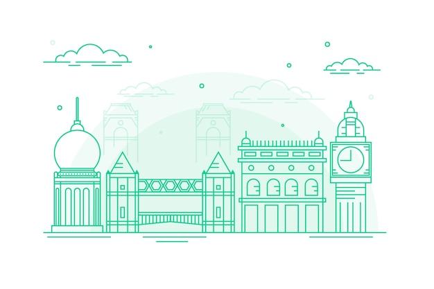 Travel landmarks outlineskyline