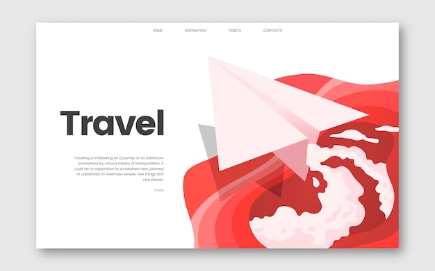 Travel and leisure informational website graphic