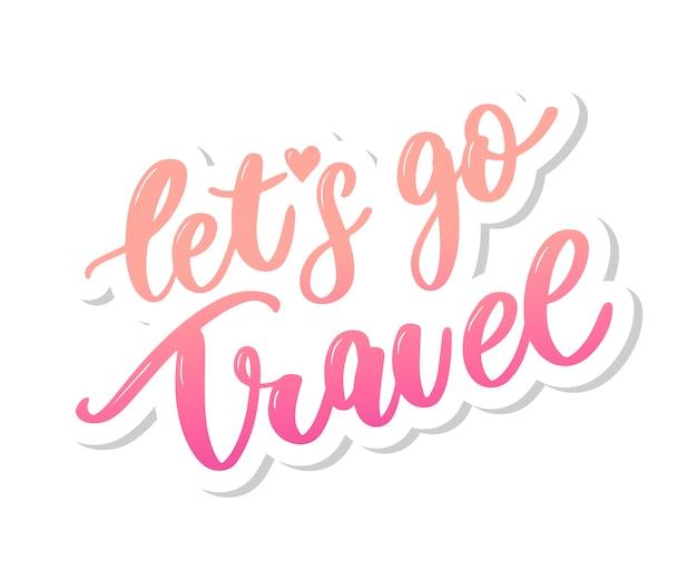Travel lettering background