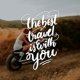Travel lettering with photo